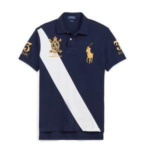 RALPH LAUREN Polo shirt. Custom fit